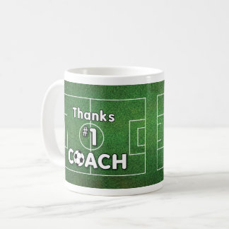 Thanks Soccer Coach Grass Field Coffee Mug