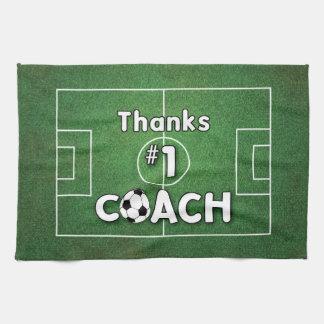 Thanks Soccer Coach Grass Field Tea Towel