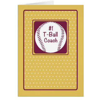 Thanks T-Ball Coach, Thanks Number 1 Card