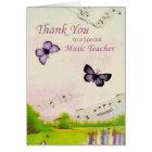 Thanks Teacher, Music, Butterflies Card
