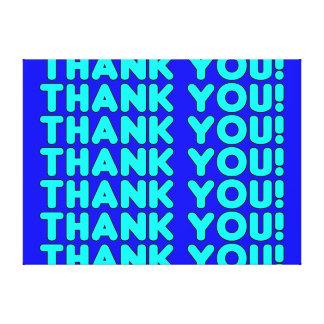 Thanks to Him Cool Boys Men Cyan Blue Thank You Canvas Prints