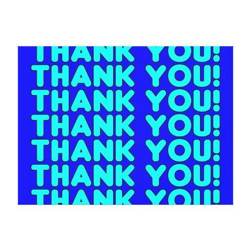 Thanks to Him  Cool Boys & Men Cyan Blue Thank You Canvas Prints