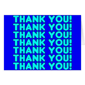 Thanks to Him  Cool Boys & Men Cyan Blue Thank You Greeting Card