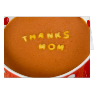 thanks to Mom in tomato soup Card