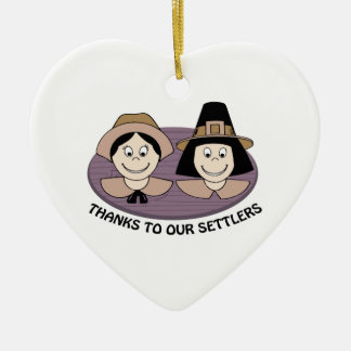 Thanks to our Settlers Christmas Tree Ornament