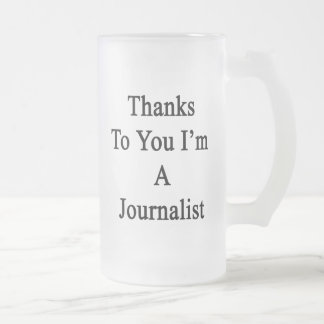 Thanks To You I'm A Journalist Frosted Glass Mug