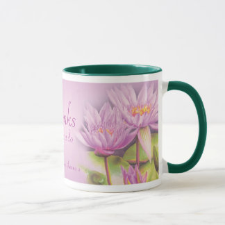 Thanks water lily mug
