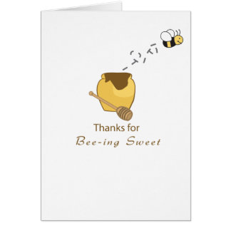 Thanks You Bee Card