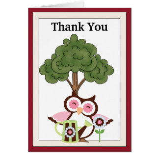 Thanks You Owl greeting card