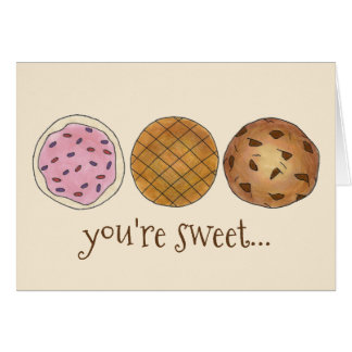 Thanks You're Sweet Bake Sale Cookies Card