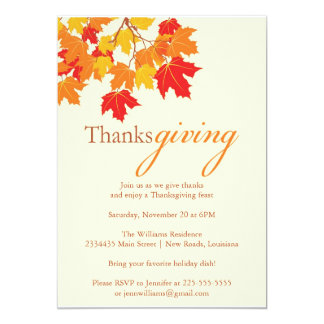 Thanksgiving 13 Cm X 18 Cm Invitation Card