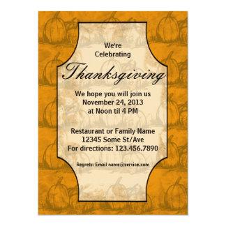 Thanksgiving 14 Cm X 19 Cm Invitation Card
