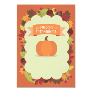 Thanksgiving 9 Cm X 13 Cm Invitation Card