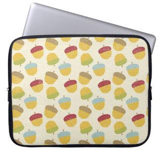 Thanksgiving Acorn Pattern Laptop Computer Sleeve