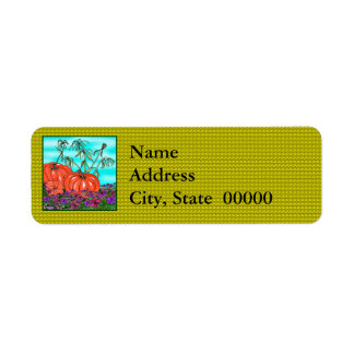 Thanksgiving and Fall Holiday Return Address Label