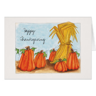 Thanksgiving and Pumpkins Card