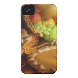 Thanksgiving Autumn Feast Dinner Print iPhone 4 Covers