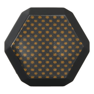 Thanksgiving Autumn Pumpkin Pattern Black Bluetooth Speaker