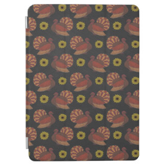 Thanksgiving Autumn Turkey Chalkboard Pattern iPad Air Cover