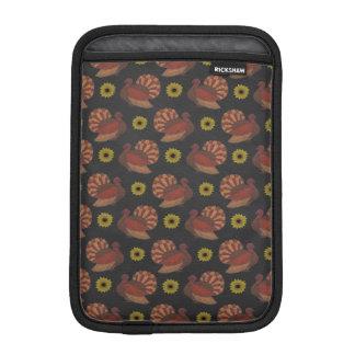 Thanksgiving Autumn Turkey Chalkboard Pattern iPad Mini Sleeves