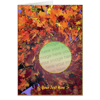 Thanksgiving Autumn Whirl (photo frame) Card