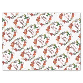 Thanksgiving Autumn Wreath to Customise Tissue Paper