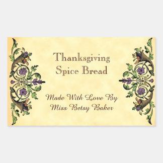 Thanksgiving Baking Custom Cornucopia Sticker
