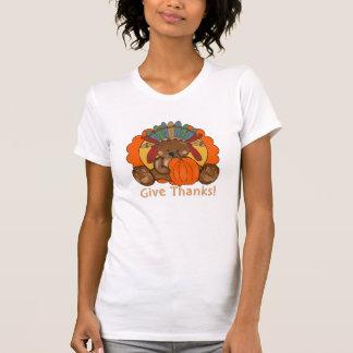 Thanksgiving Bear Holiday womens t-shirt