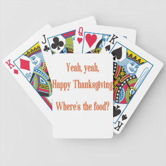 Thanksgiving Bicycle Playing Cards