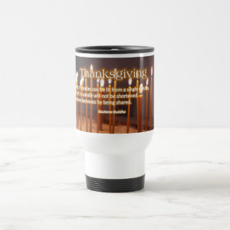 Thanksgiving Candles Travel Mug