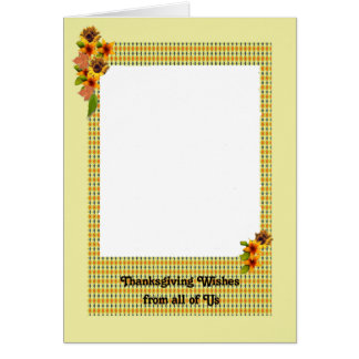 Thanksgiving Card, Add Your Family Photo Card