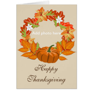 Thanksgiving card - customizable