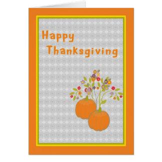Thanksgiving Card Pumpkins & Flowers
