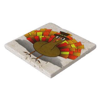 Thanksgiving Cartoon Turkey Pilgrim Trivet