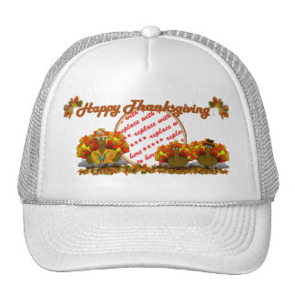 Thanksgiving Cartoon Turkey Trio Photo Frame Cap