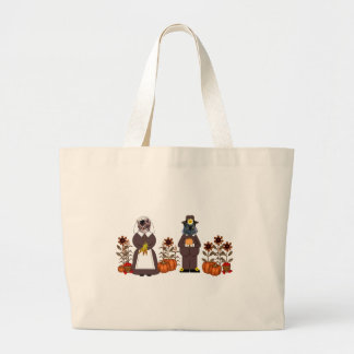 Thanksgiving Cats Canvas Bags