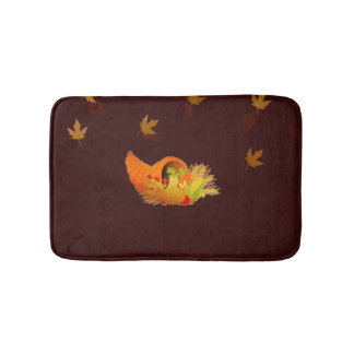 Thanksgiving Cornucopia Bath Mat