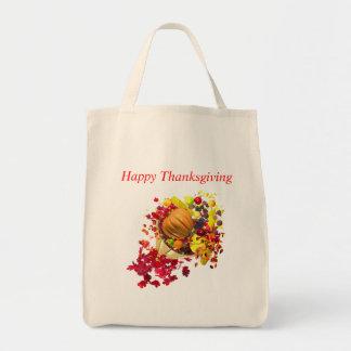 Thanksgiving Cornucopia Grocery Tote Bag