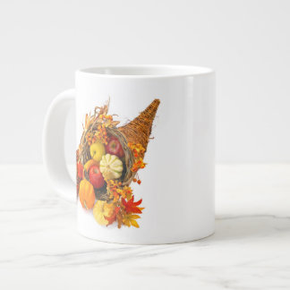 Thanksgiving Cornucopia Jumbo Mug