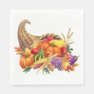 Thanksgiving Cornucopia Luncheon Napkins Paper Napkins