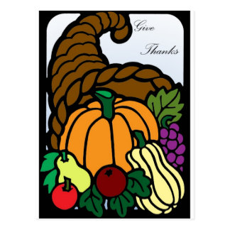 Thanksgiving Cornucopia Postcard