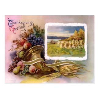 Thanksgiving Cornucopia Postcard