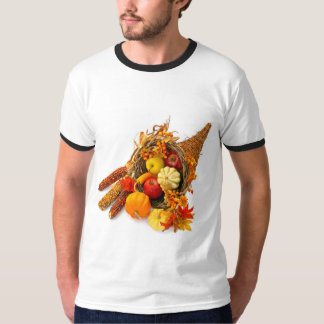 Thanksgiving Cornucopia Ringer T-Shirt