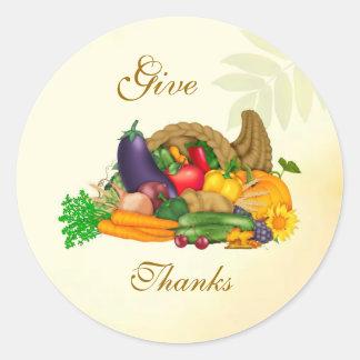 Thanksgiving. Cornucopia Sticker