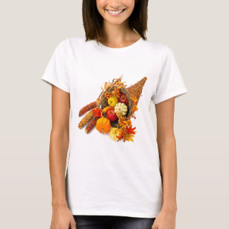 Thanksgiving Cornucopia White T-Shirt