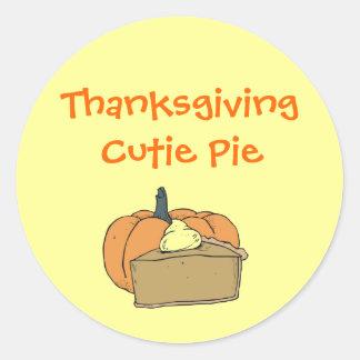 Thanksgiving Cutie Round Sticker