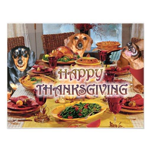 Thanksgiving Dachshunds Announcement