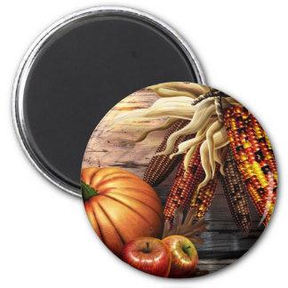 Thanksgiving Day 6 Cm Round Magnet
