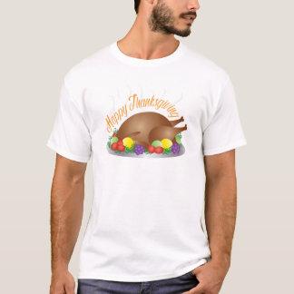 Thanksgiving Day Baked Turkey Dinner Illustration T-Shirt