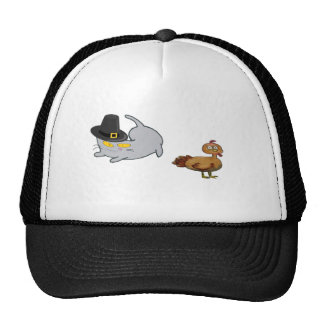 Thanksgiving Day Cat Mesh Hats